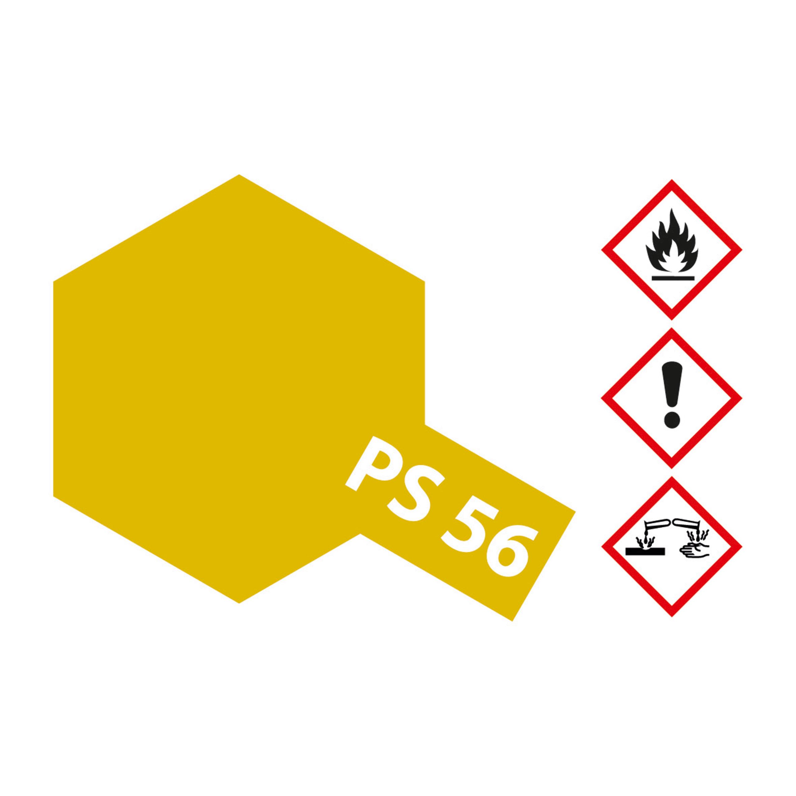 PS-56 Senfgelb Polycarbonat - 100ml Sprayfarbe Lexan - Tamiya 300086056