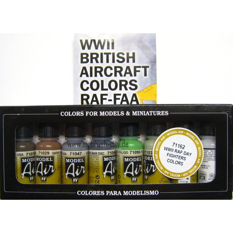 Model Air Set WWII / RAF Day Fighters 100 408 Airbrush Farben Set ***