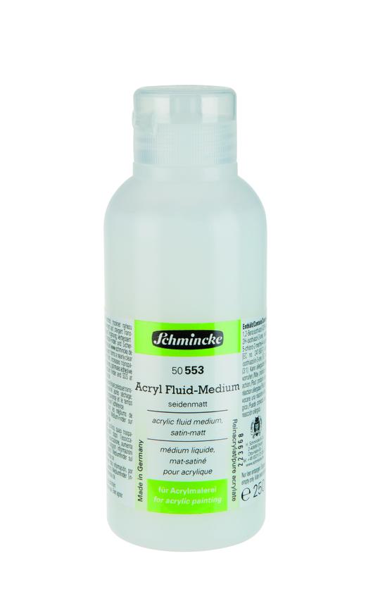 Schmincke 250ml Hilfsmittel Fluid-Medium seidenmatt Acryl 50 553 027