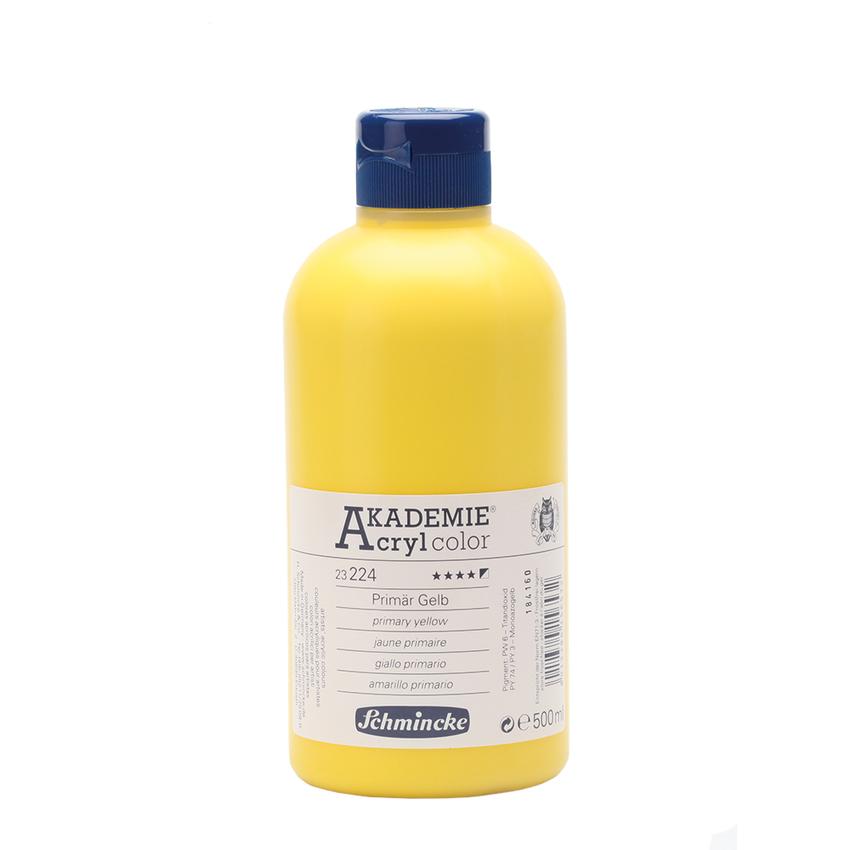 Primär Gelb 500ml Acrylfarbe - AKADEMIE Acryl - Schmincke 23 224 028