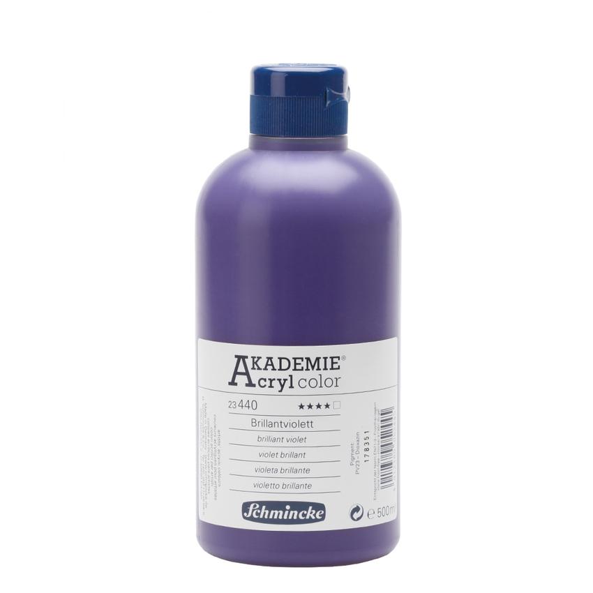 Brilliantviolett 500ml Acrylfarbe - AKADEMIE Acryl - Schmincke 23 440 028