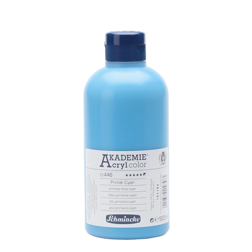 Primär Cyan 500ml Acrylfarbe - AKADEMIE Acryl - Schmincke23 446 028