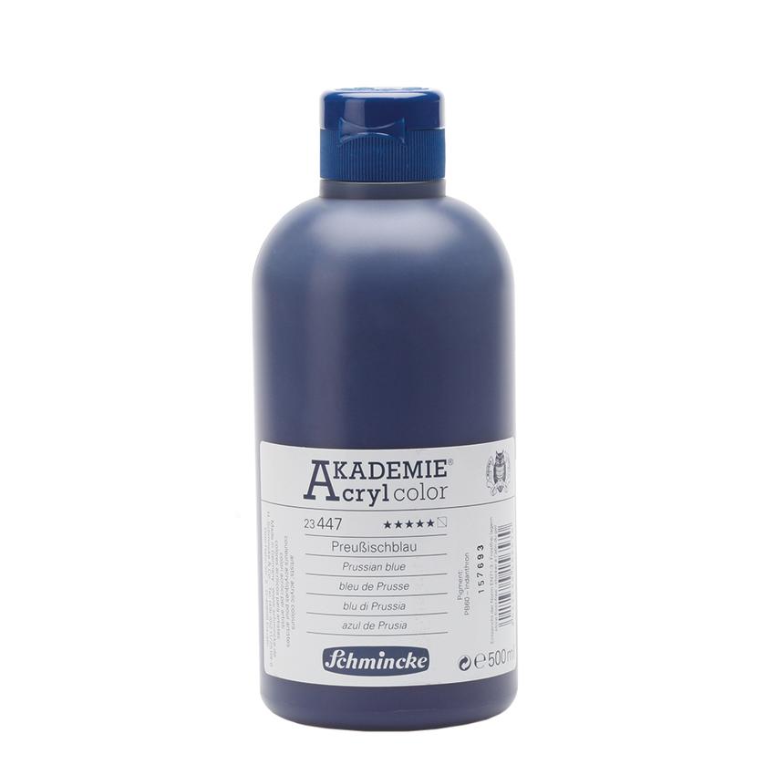 Preussischblau 500ml Acrylfarbe - AKADEMIE Acryl - Schmincke 23 447 028