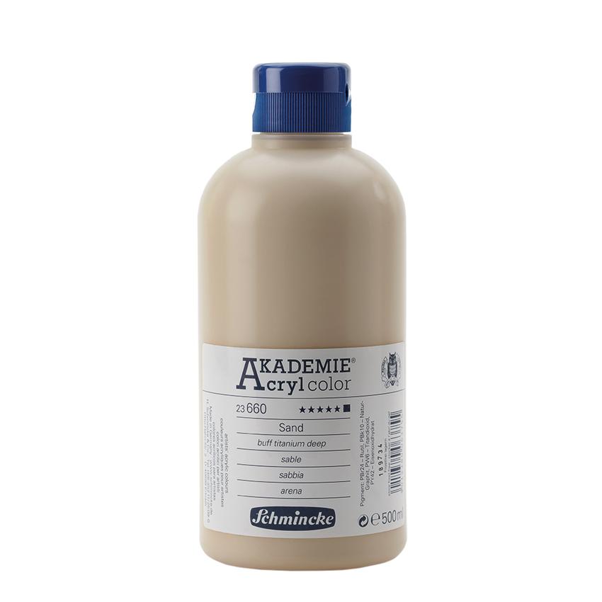 Sand Schmincke 500ml Acrylfarbe - AKADEMIE Acryl - Schmincke 23 660 028