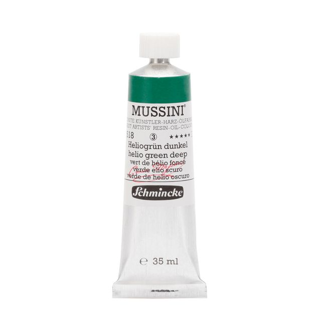 Schmincke 35ml MUSSINI Heliogruen dunkel Öl 10 518 009