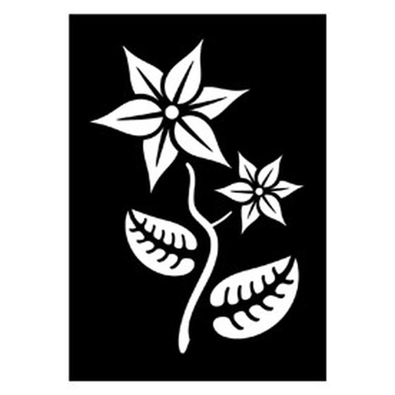 Tattoo Schablone Pflanze 263 043