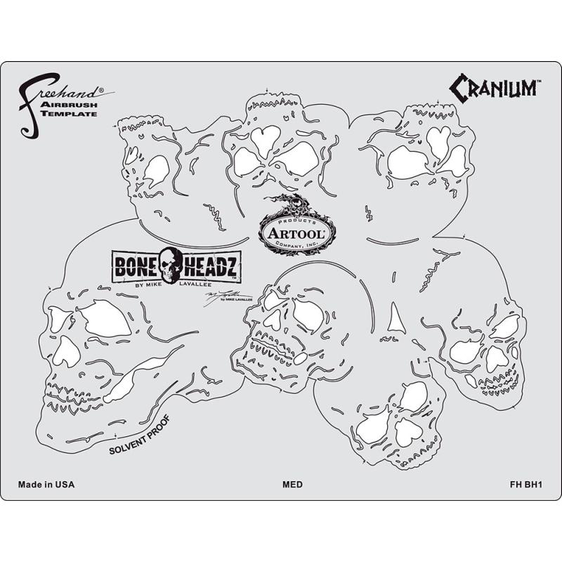 artool - Bone Headz Schablonen-Set Cranium 200 468