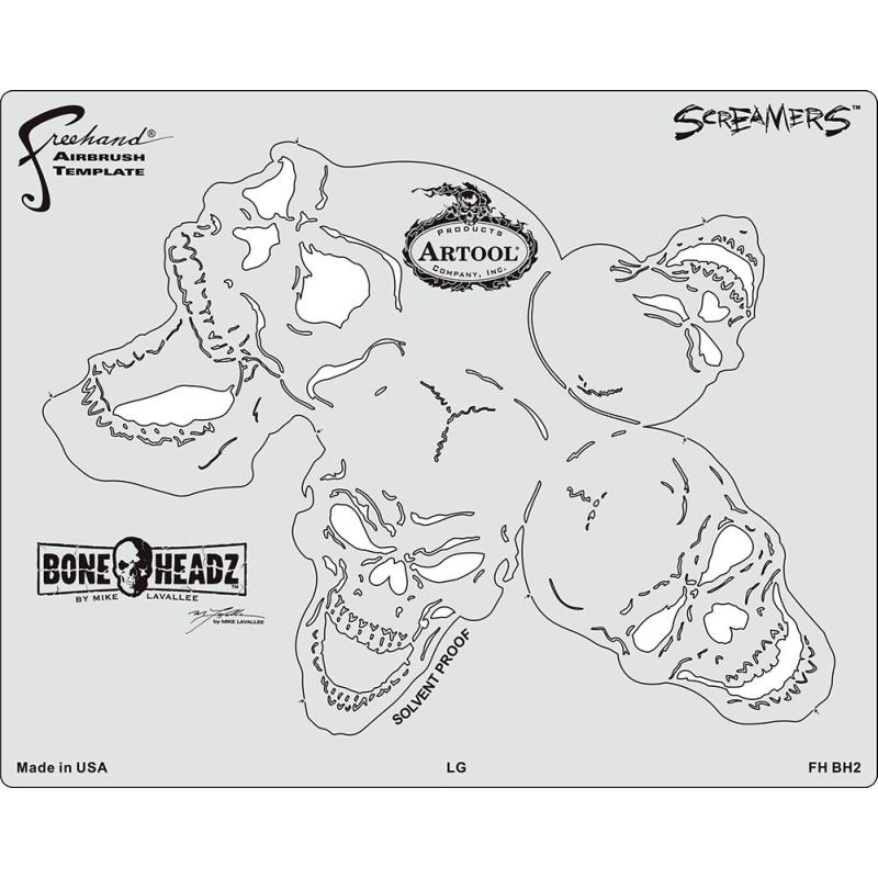 artool - Bone Headz Schablonen-Set Screamers 200 469