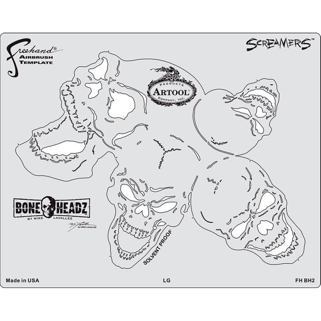 "artool - Bone Headz Schablonen-Set ,,Screamers"" 200 469"