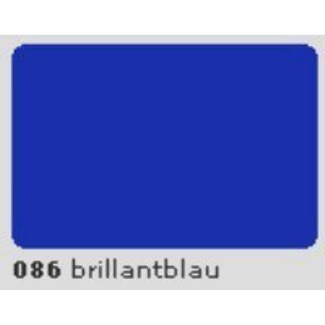 Oracal 651 Plotterfolie 63cm x 5m brillantblau 086