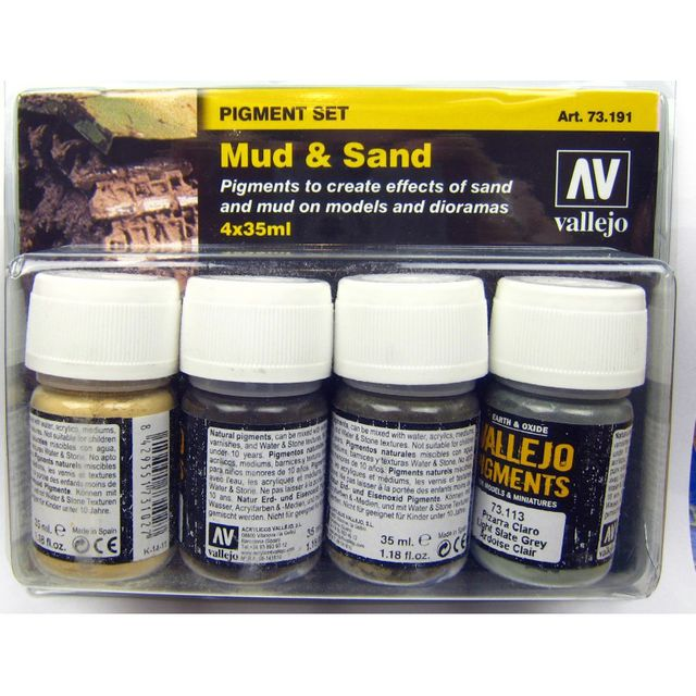 Vallejo Pigmente Set Mud and Sand 4 x 35ml 73.191