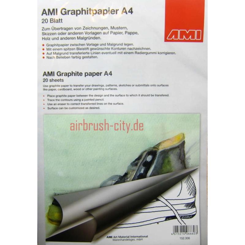 AMI Graphitpapier 20Blatt A4 schwarz 152306