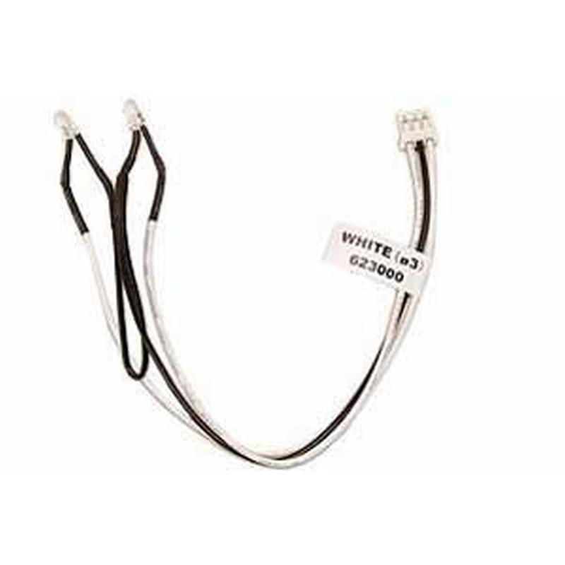 Graupner LED weiß 3mm, 2 Stück mit Anschlußkabel 98028.1