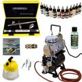 Modellbau Airbrush Set - Evolution Silverline Two in One + Sparmax TC-610H-n Kompressor - Kit 9003