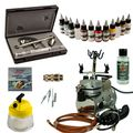 Airbrush Set Modellbau - Ultra Two in One + Saturn 25 Kompressor - Kit 9004