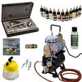Modellbau Airbrush Set - Ultra Two in One + Sparmax TC-610H-n Kompressor - Kit 9006