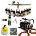 Modellbau Airbrush Set - Ultra Airbrushpistole + Sparmax AC 500 Kompressor - Kit 9008