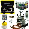 Nail-Art Airbrush Set - Evolution Silverline Two in One + Saturn 25 Kompressor - Kit 9101