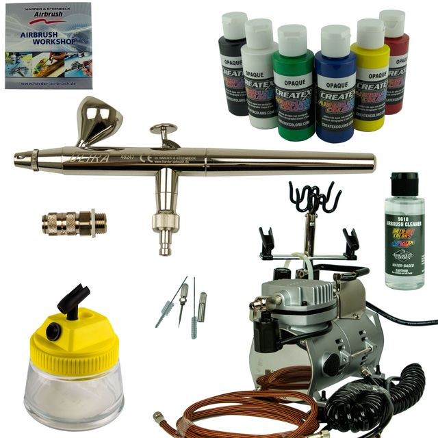 Nail-Art Airbrush Set - Ultra Airbrushpistole + Saturn Kompressor - Kit 9107