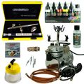 Fine-Art Airbrush Set - Evolution Silverline Two in One + Saturn 25 Kompressor - Kit 9201