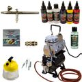 Fine-Art Airbrush Set - Ultra Airbrushpistole - Sparmax TC-610H-n Kompressor - Kit 9209