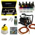 Custom-Painting Airbrush Set - Evolution Silverline Two in One + Sparmax AC-500 Kompressor - Kit 9302