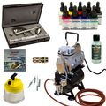 Custom painting Airbrush Set - Ultra Two in One + Sparmax TC-610H-n Kompressor - Kit 9306