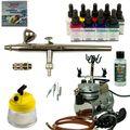 Komplett Airbrush Set - Ultra Airbrushpistole + Saturn Kompressor - Kit 9307