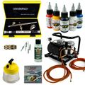 Body-Painting Airbrush Set - Evolution Silverline Two in One + Sparmax AC-500 Kompressor - Kit 9402