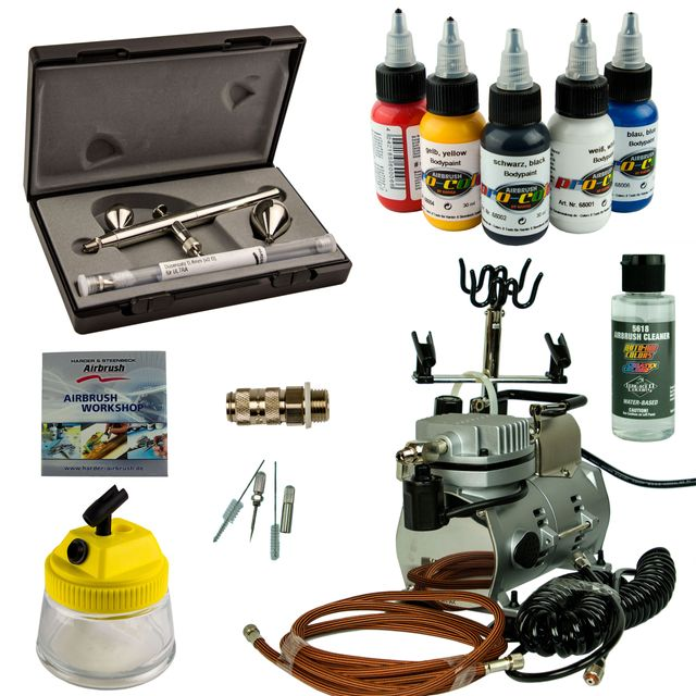 Airbrush Set Body Painting - Ultra Two in One + Saturn 25 Kompressor - Kit 9404