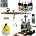 Body-Painting Airbrush Set - Ultra Airbrushpistole + Saturn Kompressor - Kit 9407