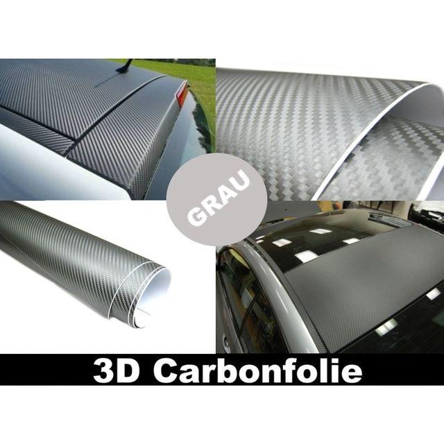 3d carbon folie grau 152cm flexibel selbstklebend carbonfolie. Black Bedroom Furniture Sets. Home Design Ideas