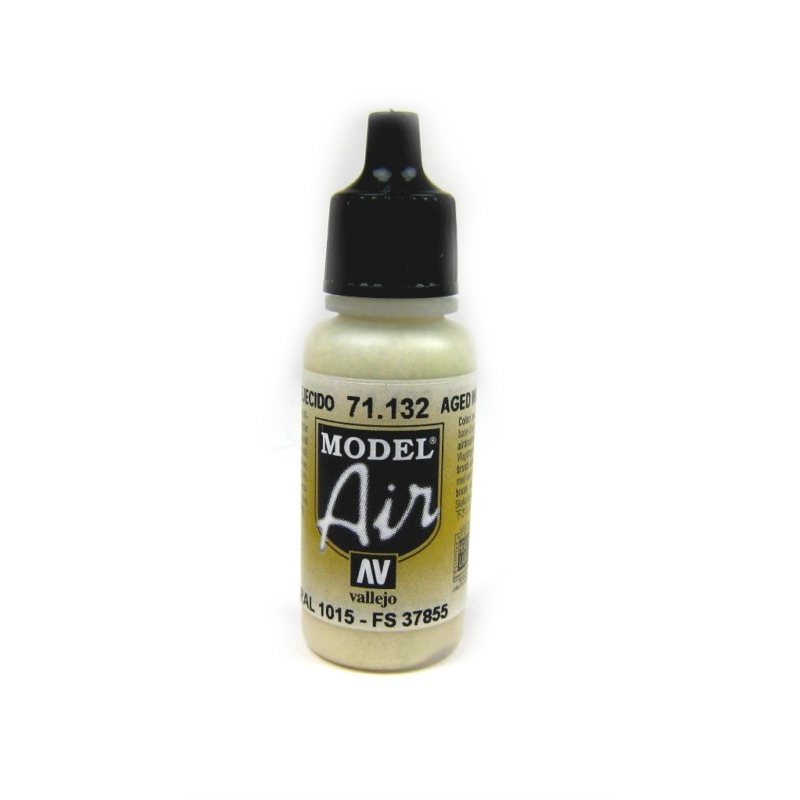 Vallejo Model Air Aged White 71132 17ml gealtertes Weiss Airbrush Farbe