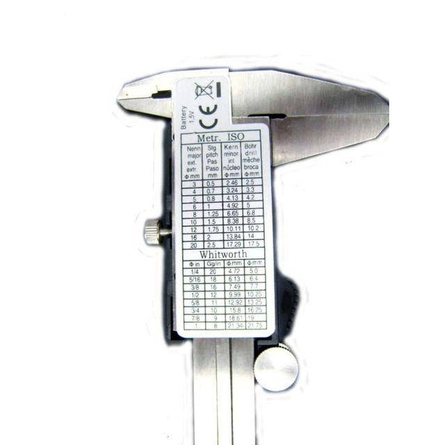 Digitaler LCD Messschieber 150 mm Schublehre Schieblehre mit Kunststoffetui