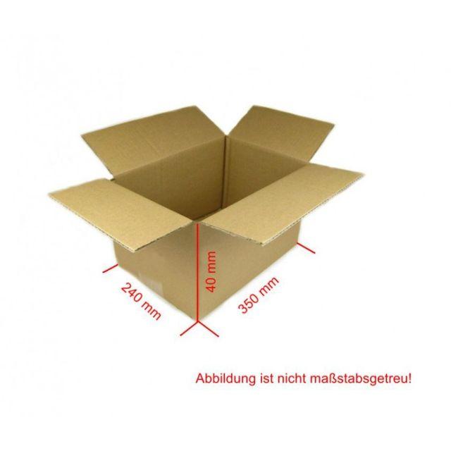 Karton 350x40x240 mm Versandkarton 100 Stück Faltkarton Braun