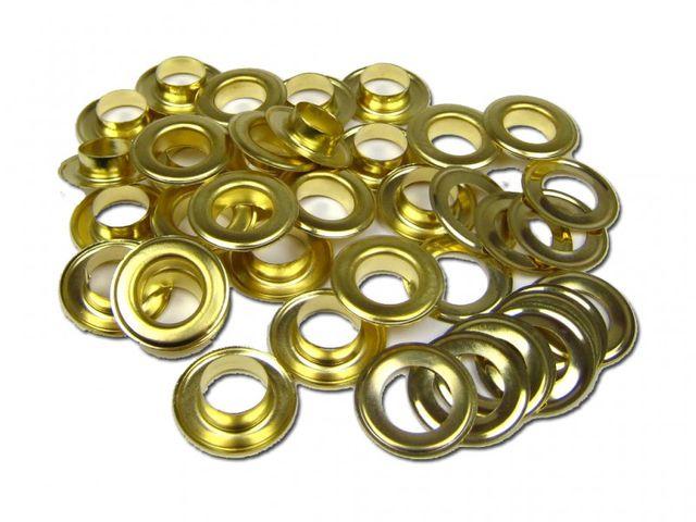 250x 10mm Ösen Rundösen Planösen GOLD für Ösenpresse