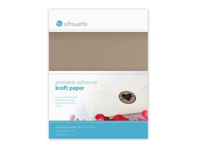 Silhouette Bedruckbares, selbstklebendes Packpapier