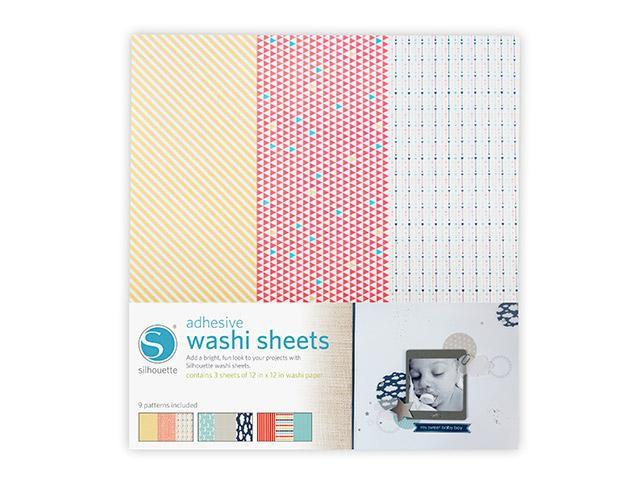 Silhouette Washi Papier - selbstklebend