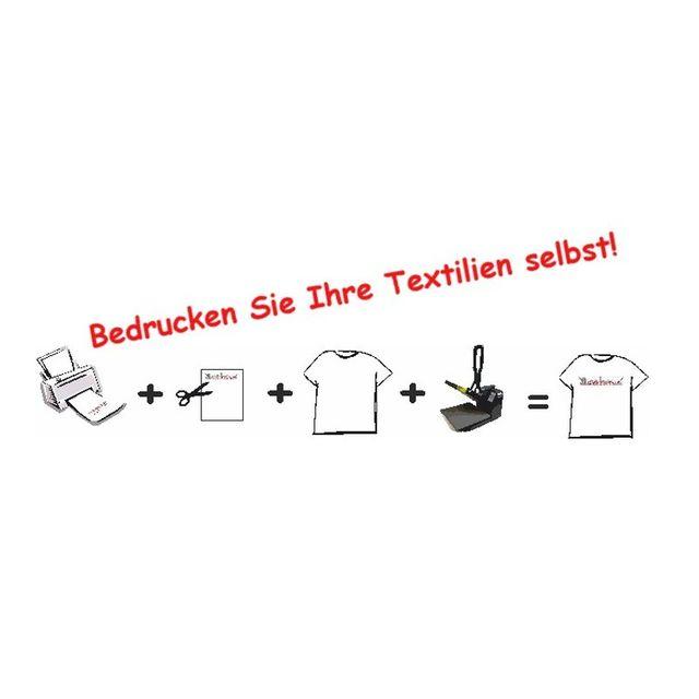 1 Stk. T-Shirt Folie Transferfolie A3 für helle Stoffe