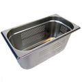 GN 1/3 Gastronormbehälter GN-Behälter Edelstahl 5,7 Liter Tiefe 150mm GELOCHT