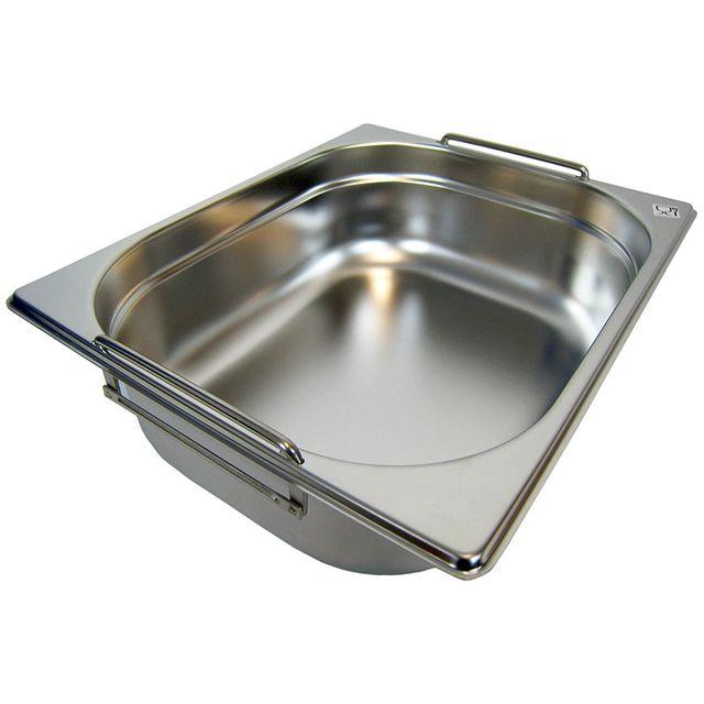 GN 1/2 Gastronormbehälter GN-Behälter Edelstahl 6,5 Liter Tiefe 100mm MIT FALLGRIFF