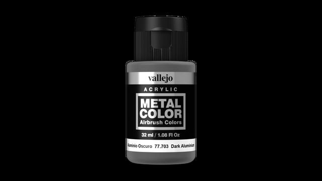 Vallejo Metal Colors 703 Dark Aluminium 32ml Airbrush Farbe