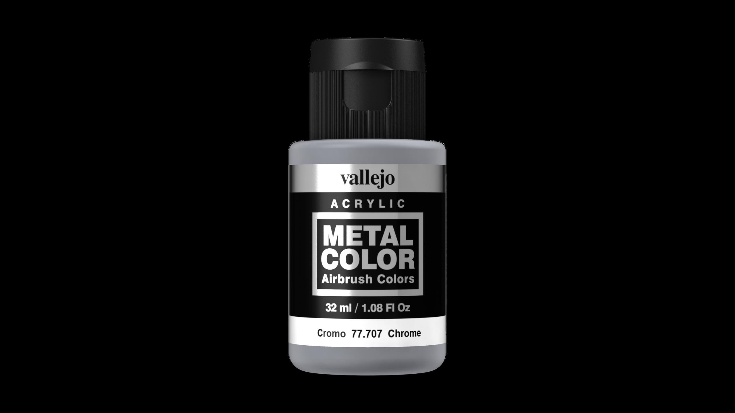 Vallejo Metal Colors 707 Chrome 32ml Airbrush Farbe
