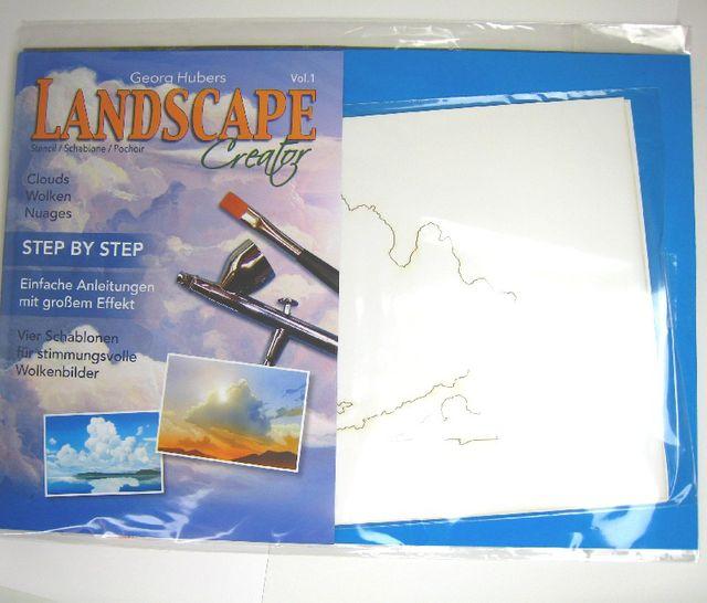 Createx Schablone Landscape Wolken Step-by-Step 262 543