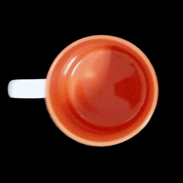Sublimation 36 Stück Kaffee Tassen Becher WEISS - INNEN Orange