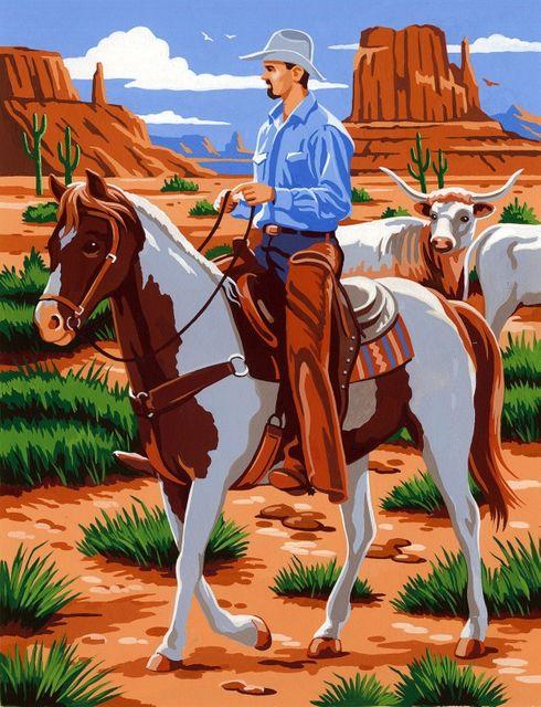 Cowboy - Malen nach Zahlen - Reeves PPPNJ74