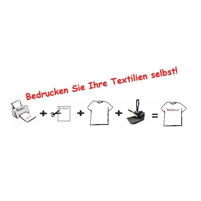 5 Stück T-Shirt Folie Transferfolie A3 für dunkle Stoffe