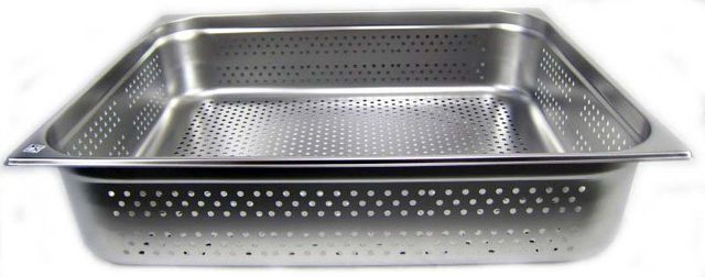 GN 2/1 Gastronormbehälter GN-Behälter Edelstahl 43,4 Liter Tiefe 150mm GELOCHT