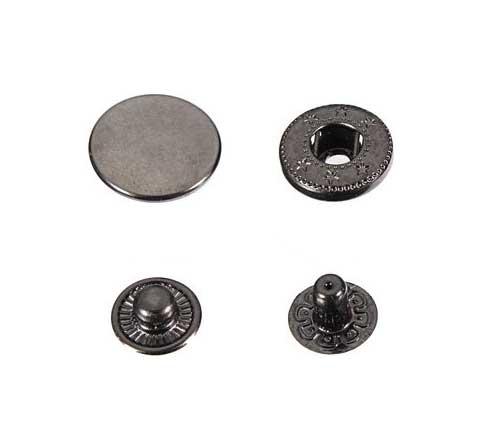 250 Stk. Druckknöpfe 15mm - schwarz - für Handpresse