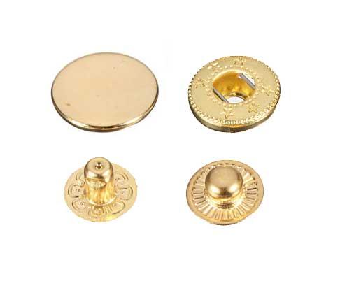 50 Stk. Druckknöpfe 10mm - gold - für Handpresse